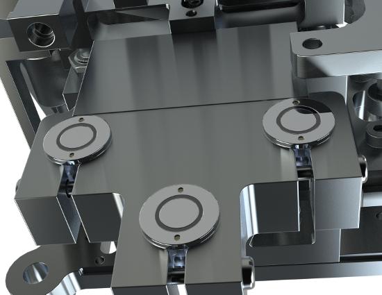 Small displacement sensors mounted on cubesat satellite